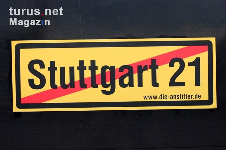 Foto Aufkleber Gegen Das Großprojekt Der Deutschen Bahn