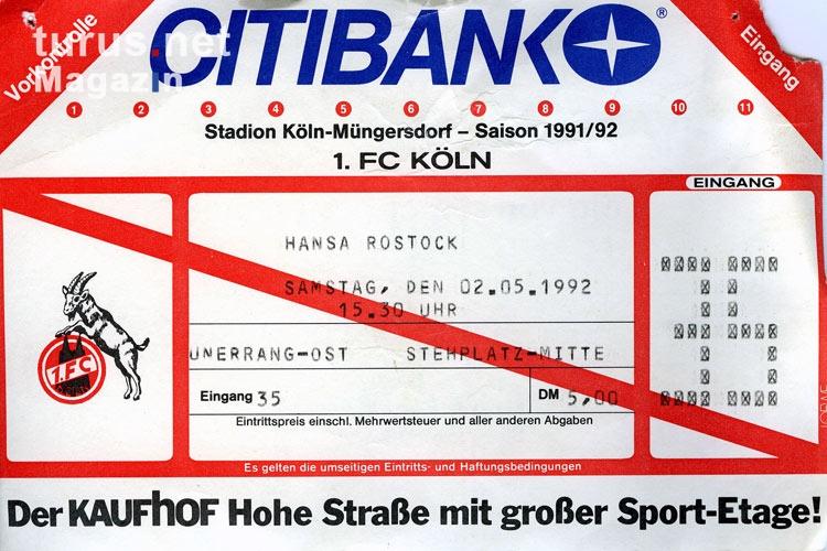 Eintrittskarten 1.Fc Köln
