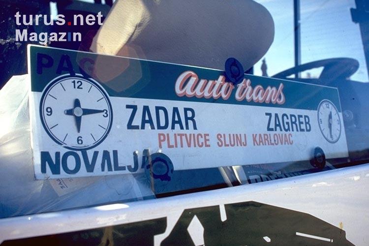 Foto Bus Von Zagreb Nach Zadar Bilder Von Kroatien Turus Net Magazin