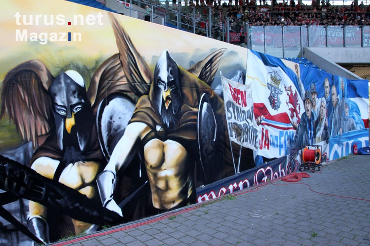 foto graffiti im rostocker ostseestadion bilder von f c. Black Bedroom Furniture Sets. Home Design Ideas