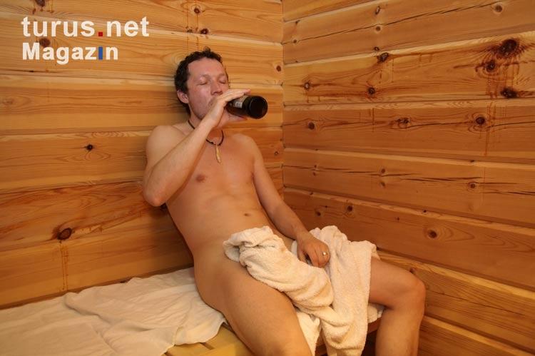 Erektion in sauna
