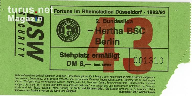 Eintrittskarten Hertha Bsc