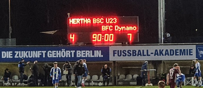 Hertha II vs. BFC Dynamo: Denkwürdiges Ost-West-Duell mit irrem Ergebnis