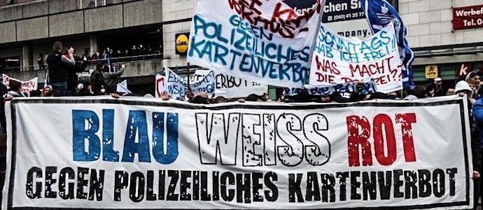 Rostocker Fandemo verläuft friedlich, St. Pauli-Fans zoffen sich mit der Polizei