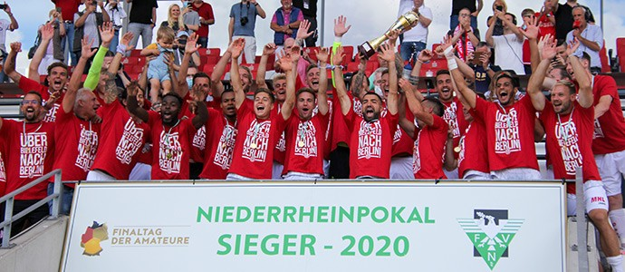 Rot-Weiss Essen holt zum zehnten Mal den Niederrheinpokal