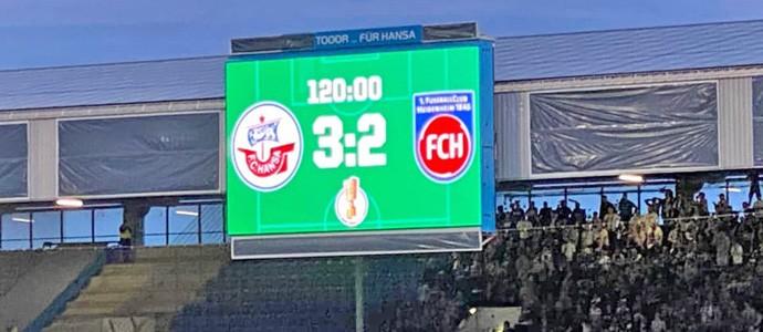 F.C. Hansa Rostock vs. 1. FC Heidenheim: Ein Torjubel wie ein Erdbeben