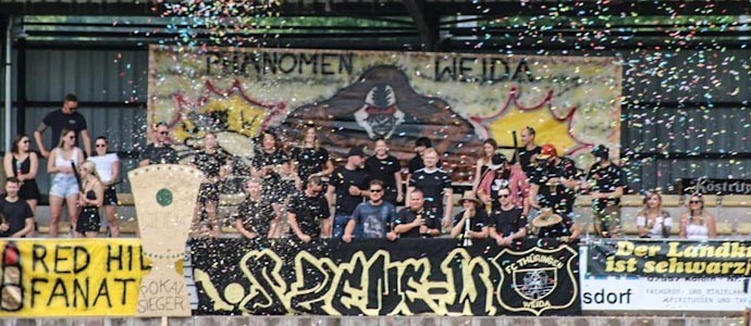 FC Thüringen Weida vs. ESV Lok Meiningen: Flott was los auf dem Roten Hügel
