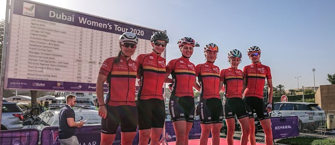 Wheel Divas aus Berlin: Dubai Women's Tour als absolutes Highlight