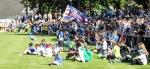 SV Falkensee-Finkenkrug vs. Hertha BSC: Pausentee und Ansprache inmitten der Fans
