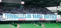 Blau-weiß-rotes Fahnenmeer an der Weser: Bundesliga-Feeling mit Hansa Rostock