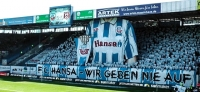 Hansa Rostock vs. Halle: Choreo, Abschied und ein Heimsieg im Ostseestadion