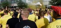 Hertha BSC vs. Brøndby IF: Danish Dynamite beim Marsch und auf den Rängen