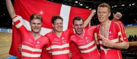 Der dänische Vierer sorgte für den Höhepunkt am 2. Tag der Bahn-WM