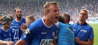 1. FC Magdeburg vs. Hallescher FC: Christian Beck sorgt für blau-weiße Ekstase