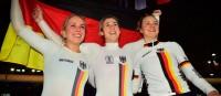 Deutsche Teamsprinterinnen holen sensationell Gold bei der Bahn-WM