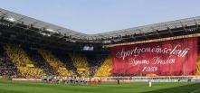 Choreographie der SG Dynamo Dresden zum 60. Geburtstag im Spiel gegen Energie Cottbus