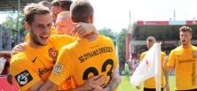 Schwarz-gelbe Party: SG Dynamo Dresden siegt in Cottbus mit Köpfchen