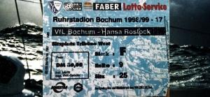 Hansa Rostock in Bochum im Mai 1999: Anpacken, hart steuerbord und volle Kraft voraus!