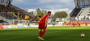 RWE Auferstehung: Rot Weiss Essen gewinnt gegen Aachen, Fans mit Choreo und Spruchbändern