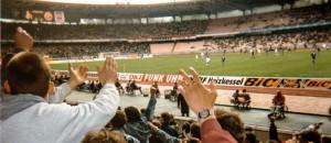 1992 bis 1995: Block 38 und Halligalli - 25x auswärts im Müngersdorfer Stadion