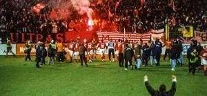 20. Dezember 2000: Ernemann schießt Union ins Glück und lässt sogar Journalisten Sitzkissen werfen