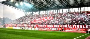 RWE gegen den KFC: Pokal-Halbfinale mit Höhepunkten nur auf den Rängen