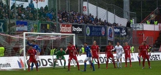 Hansa Rostock erwacht zu spät auf dem Dallenberg