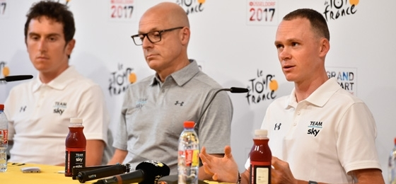 Team-Pressekonferenzen vor Beginn der Tour de France 2017
