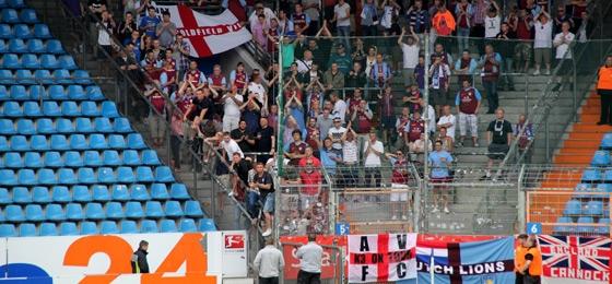 Aston Villa Supporter in Bochum