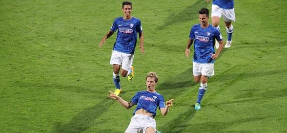 Jubel von Fabian Jungwirth in der Saison 2012/2013
