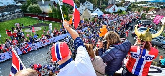 Sensationelle Stimmung in Norwegen: Im Straßenrennen feiert Peter Sagan den dritten WM-Titel in Folge
