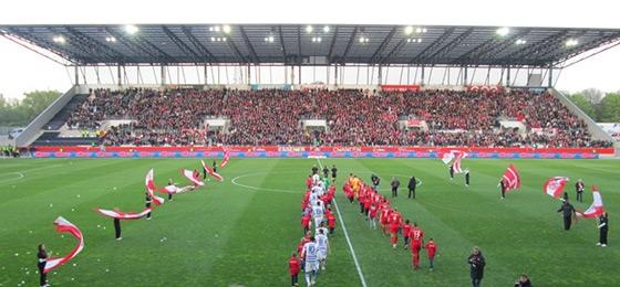 Niederrheinpokal-Halbfinale zwischen RWE und MSV am 8. April 2014