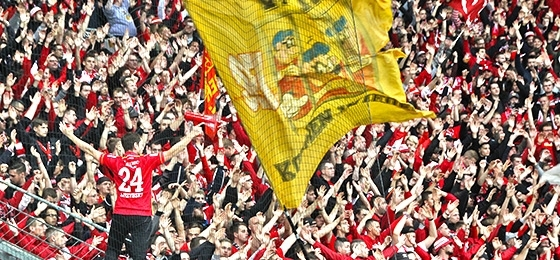 Union Berlin Fans in Leverkusen