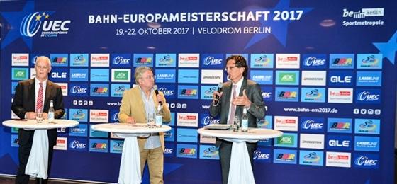 1. Pressekonferenz zur Bahn-EM im Velodrom: Kristina Vogel will Medaillensammlung komplettieren