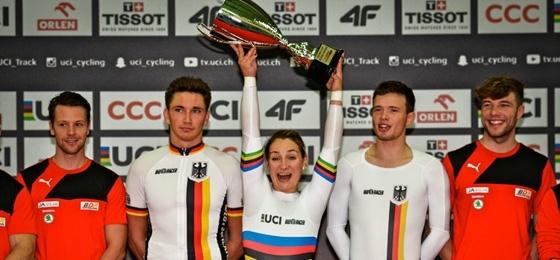 Bahnrad-Weltcup: In Pruszkow und Manchester führt der BDR jeweils den Medaillenspiegel an