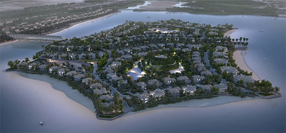 Falcon Island in Ras Al Khaimah (c) Al Hamra Real Estate Development &  w&p Wilde & Partner Public Relations GmbH