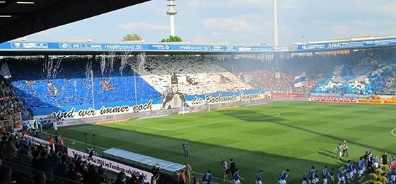 Choreo der Bochumer Ostkurve beim Spiel gegen Bielefeld