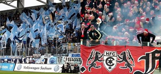 Chemnitzer FC gegen Hallescher FC Impressionen