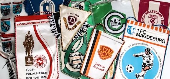 Röbel, Böhlen und HFC Chemie: Wenn alte DDR-Fußballwimpel einiges zu berichten haben
