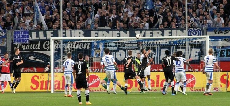 MSV Duisburg gegen Hansa Rostock in der Saison 2013/2014