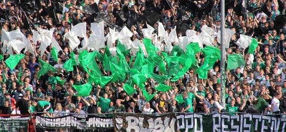 VfL Osnabrück vs. SC Preußen Münster: Fan-Demonstration statt gefüllter Gästeblock