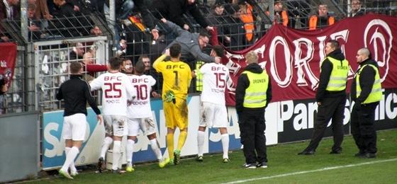 SV Babelsberg 03 vs. BFC Dynamo: Ein weinroter Sieg, der völlig aus der Kalten kam